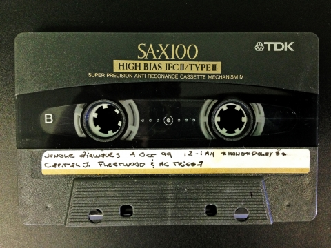 Jungle Airwaves from October 8th 1999 recorded on a TDK SA-X100 Cassette Tape